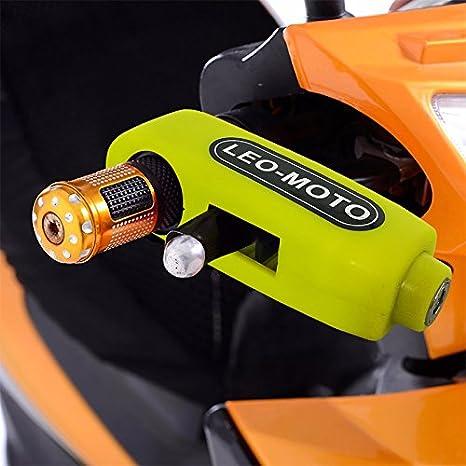 FD-MOT Candado de Disco con Alarma 110DB Dispositivos Antirrobo para Motos Bicicletas con Candado para Moto Grip Lock Cerradura de Seguridad antirrobo ...