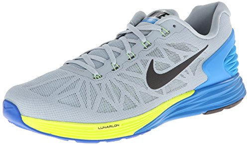 5bae43af15a3 Nike Mens Lunarglide 6 Lt Magnet Grey Blk Pht Bl Vlt Running Shoe 9 Men US  - Buy Online in Oman.