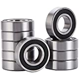 XiKe 10 Pack 6004-2RS Bearings 20x42x12mm, Stable Performance and Cost-Effective, Double Seal and Pre-Lubricated, Deep Groove Ball Bearings.