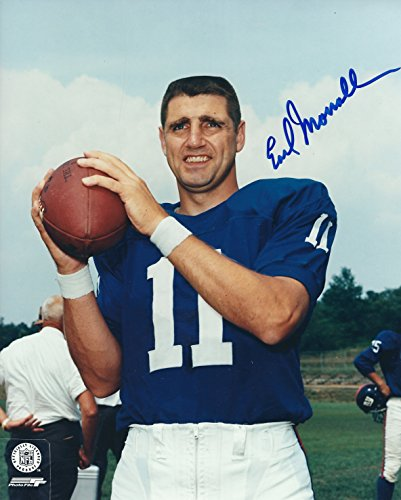Autographed Earl Morrall 8X10 New York Giants Photo