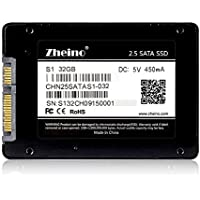 Zheino S1 2.5 Inch SATA III 32GB SSD 2D MLC Solid State Drive (7mm) for Desktop Laptop Mini PC