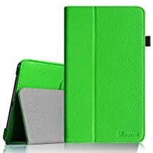 Fintie Samsung Galaxy Tab 4 7.0 Folio Case - Slim Fit Premium Vegan Leather Cover for Samsung Tab 4 7-Inch Tablet, Green