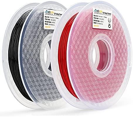 amolen filamento impresora 3d, 1,75 mm filamento Flexible ...