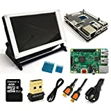 Eleduino Raspberry Pi 2 Super Integrated Computer Kit New Raspberry Pi 2 /7.0lcd/WiFi Dongle /8GB SD Card / Case /Power Supply with On/Off Switch Cable Many more