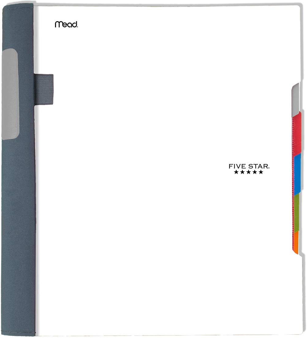 Five Star Advance Spiral Notebook, 5 Subject, College Ruled Paper, 200 Sheets, 11 x 8-1/2 inches, White (73154)