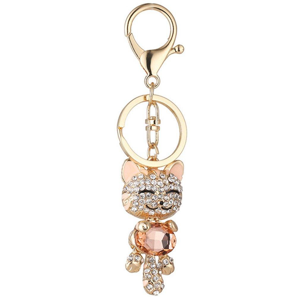Amazon.com: Cute Kitten Cat Bling cristales rhinestone clave ...