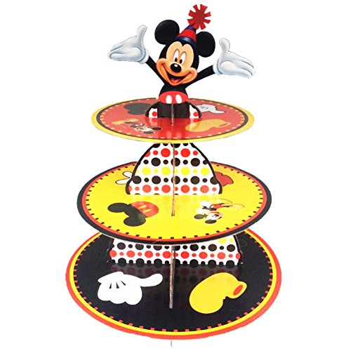 Mickey Mouse Stand - BETOP HOUSE Cute Round Mickey Mouse Dessert Muffin Cupcake Holder Cupcake Stand