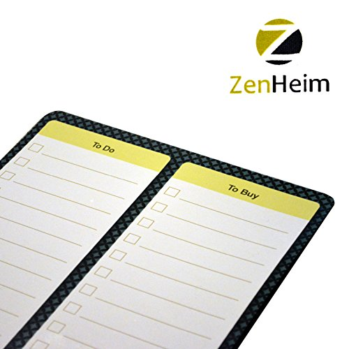 Premium Dry Erase Magnet TO DO and TO BUY Shopping List Refrigerator Magnet Organizer For Office Kitchen And More!
