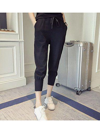 TT&KUZI Pantaloni da Donna Sportivi/Modello Harem Semplice/Attivo Cotone Media Elasticità, 3XL
