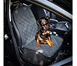 Color:Black Material:Oxford fabric Size:20.4*40 inch Unique Non-Slip Rubber Backing, Seat Anchor, and Adjustable Strap Customized design fits the entire back seat of Most Vehicles. From scratches, dog hair, or muddy paws on your automotive seats, wor...