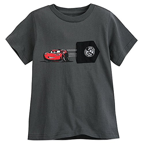 Disney Lightning McQueen T-Shirt For Boys - Gray Size XXS