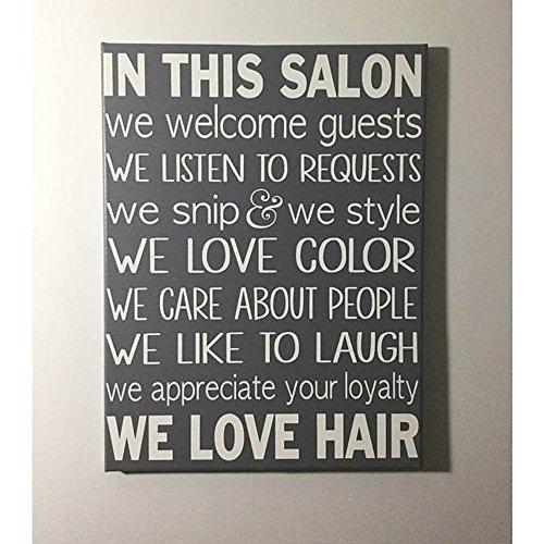 Painted Canvas Sign - Hair salon wall art