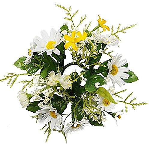 MARJON FlowersArtificial Yellow and White Flower Candle - Candle Ring Lily Calla
