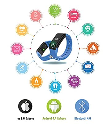 Fitness Tracker Watch Activity Waterproof IP67,Smart Wristband Heart Rate Monitor Smart Band Pedometer Sleep Monitor Smart Bracelet Calories Track Step Track Health Band iPhone and Android Thrillsales