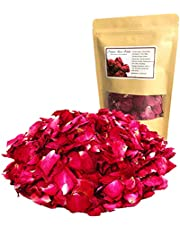 Organic Dried Red Rose Petals, Real Natural Dried Rose Petals 1.75oz/50g for Bath, Soap Making, Candle Making, Wedding, Confetti Crafts, DIY Accessories
