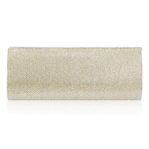 Party Glitter Damara Pleated Grey Wave Cluth Women Rhinestone Flap Cw7qt7fxY