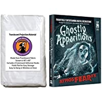 AtmosFearFX Ghostly Apparitions SD Card and Reaper Brothers High Resolution Window Projection Screen for Virtual Halloween Videos