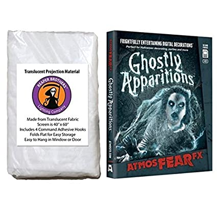 atmosfearfx ghostly apparitions sd card and reaper brothers high resolution window projection screen for virtual halloween