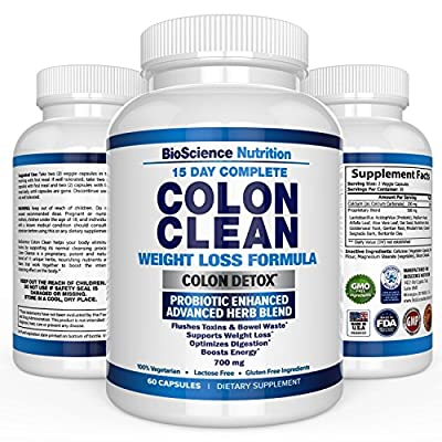 Colon Cleanse 15 Days Super Detox with Probiotic - Dietary Fiber and Herbal Laxative Supplement – BioScience Nutritional