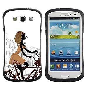 Suave TPU GEL Carcasa Funda Silicona Blando Estuche Caso de protección (para) Samsung Galaxy S3 I9300 / CECELL Phone case / / parizh gorod ulica ploschad /