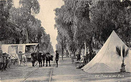 Ontario California Camp in the Park Ezera Meeker Oregon Trail Postcard J81067 (Best Parks In Ontario)