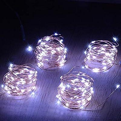 Abkshine 4 Pack 50 LEDs Mini Fairy Lights