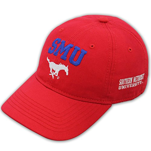 NCAA Smu Mustangs Adult Unisex Epic Washed Twill CapAdjustable
