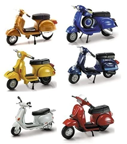 Buy New Ray Vespa Scooter 6 Piece Set New Ray Diecast