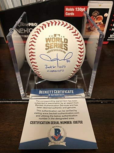 Jason Hammel Autographed Signed Official 2016 World Series Baseball BAS COA Cubs Cube - Authentic - Cubs Chicago Cube Baseball