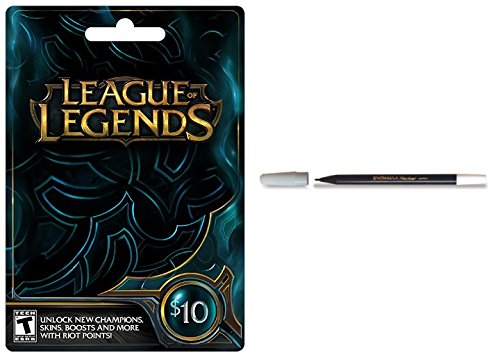 BUNDLE: League of Legends $10 Game Card - Mac | Windows AND Snowman Pencil Marker by GADGET UPGRADE
