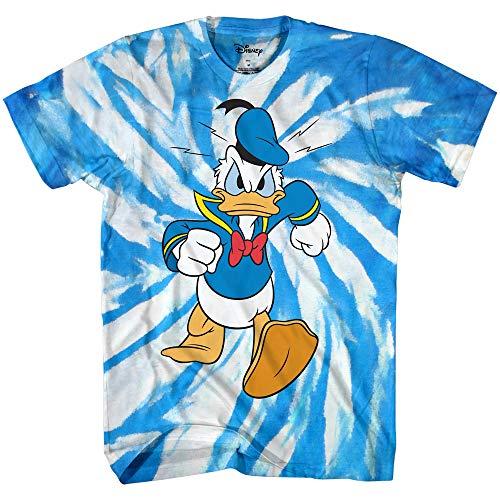 Disney World Orlando Halloween (Disney Donald Duck Wash Tie Dye World Disneyland Funny Mens Adult Graphic Costume Humor Apparel Tee T-Shirt (Blue White Tie Dye,)