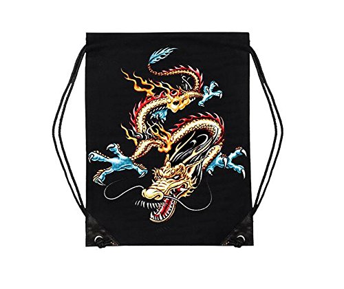 - Ximkee Dragon Totem 3D Printing Drawstring Bags Backpack Rucksack Shoulder Bags Gym Bag