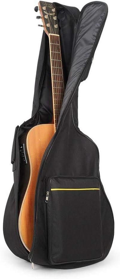 UBEGOOD Funda de Guitarra,Estuche de Transporte de Guitarra para 41 Pulgadas Resistente al Agua Paño Oxford acolchada Funda de Guitarra Universal funda guitarra electrica - Negro: Amazon.es: Instrumentos musicales