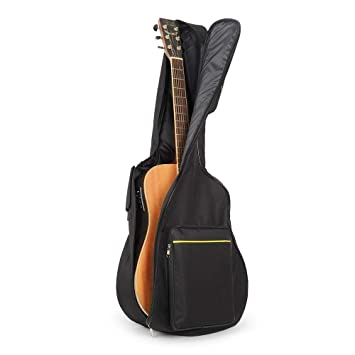 UBEGOOD Funda de Guitarra,Estuche de Transporte de Guitarra para 41 Pulgadas Resistente al Agua Paño Oxford acolchada Funda de Guitarra Universal funda ...