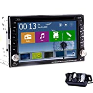 Derni¨¨res Windows 8.0 Syst¨¨me d'exploitation! Universal 2 din 6.2 '' Lecteur DVD de voiture ¨¦cran tactile num¨¦rique de navigation st¨¦r¨¦o de voiture GPS int¨¦gr¨¦ Cam¨¦ra Bluetooth Autoradio Vid¨¦o Audio Player + arri¨¨re gratuit