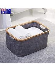DORLIONA rganizer AU Bins Clothes Storage Bag Hamper O Bamboo Oxford Cloth Bamboo Oxfo Storage Bag sket Bin Laundry Basket oth Laundry Hamper Organizer AU