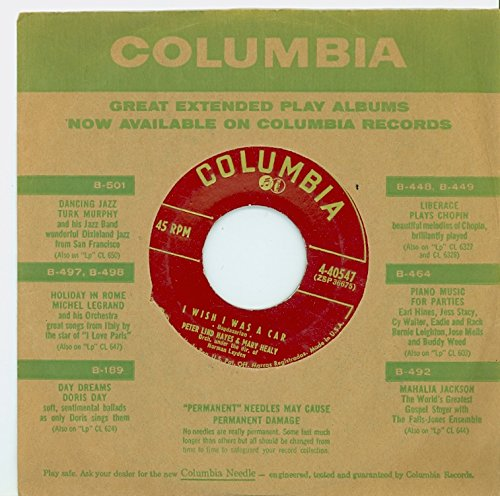 I Wish I Was A Car | Rememb'ring - Peter Lind Hayes And Mary Healy (Columbia Records 1955) Near-Mint - Vintage 45 RPM Vinyl Record Columbia Vintage Ring