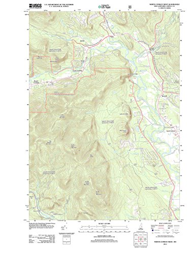 USGS Historical Topographic Map | 2012 North Conway West, NH |Fine Art Cartography Reproduction - North Map Conway Of Nh