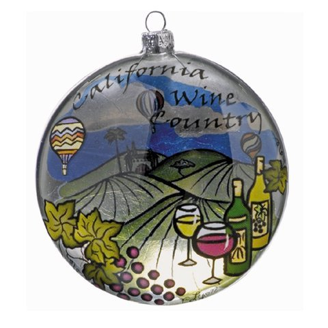 California Wine Country Glass - Ornaments California