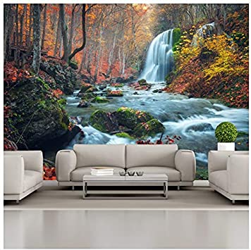 White Waterfall Rainforest Full Wall Mural Photo Wallpaper Print Home Decor Kids