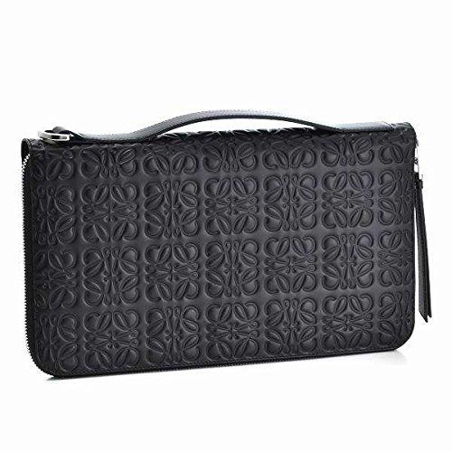 LOEWE(ロエベ) 財布 メンズ 型押しカーフスキン ラウンドファスナー長財布 ブラック 11955R11-0030-1100 [並行輸入品] B0761PS43Z