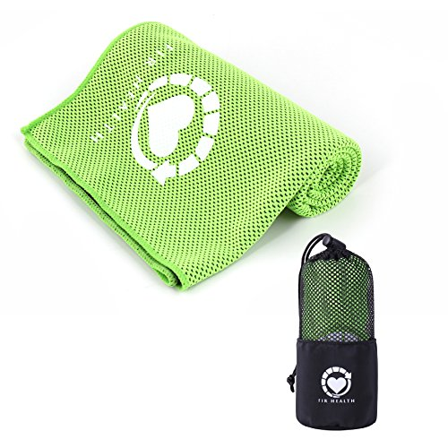 Ultimate Cooling Towel by FIR HEALTH: Hydroactive Bamboo Microfiber Towel 40X12 in Mesh Carry Bag/Soft, Evaporative Cool Towel for Instant Cooling Relief After Workouts + Free Ebook