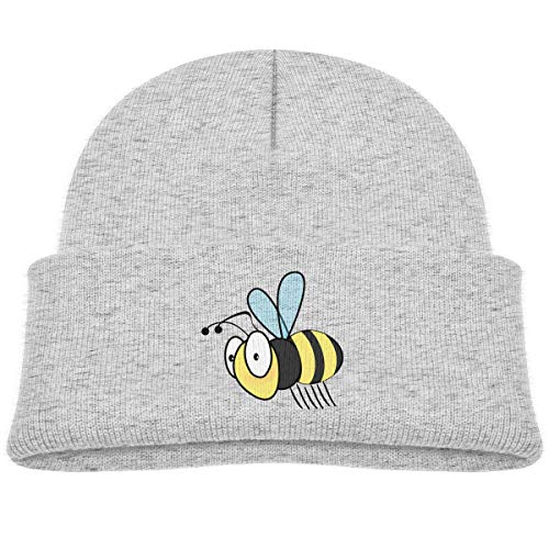 Kids Knitted Beanies Hat Bumble Bee Winter Hat Knitted Skull Cap for Boys Girls Gray (Cap Bee Bumble Toddler)