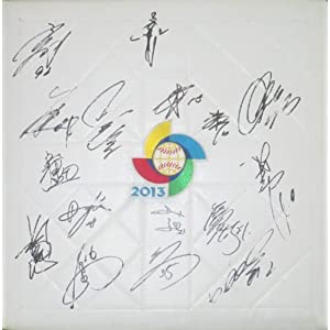 2013 Team Japan Autographed Hand Signed 2013 World Baseball Classic Base with 16 Signatures Total and Proof Photos of Signing, COA