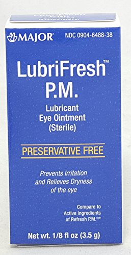 MAJOR LUBRIFRESH PM OPTHALMIC OINTMENT MINERAL OIL-15 % Clear 3.5 ML UPC (Opthalmic Ointment)
