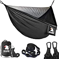COVACURE Camping Hammock with Mosquito Net - 2 Person Ultra-lightweight Outdoor Travel Hammock for Camping Hiking Backpacking