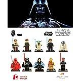 ABG toys 10 Minifigures STAR WARS Darth Vader, Darth Maul, Anakin Skywalker, C-3PO, Emperor Palpatine, R2-D2, Han Solo, Obi-Wan Kenobi, Yoda, Royal Guard Series Building Blocks Sets Toys