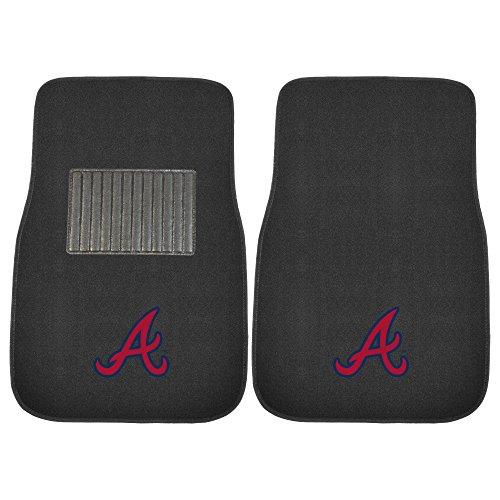FANMATS 18569 MLB Atlanta Braves 2-Piece Embroidered Car Mat Set