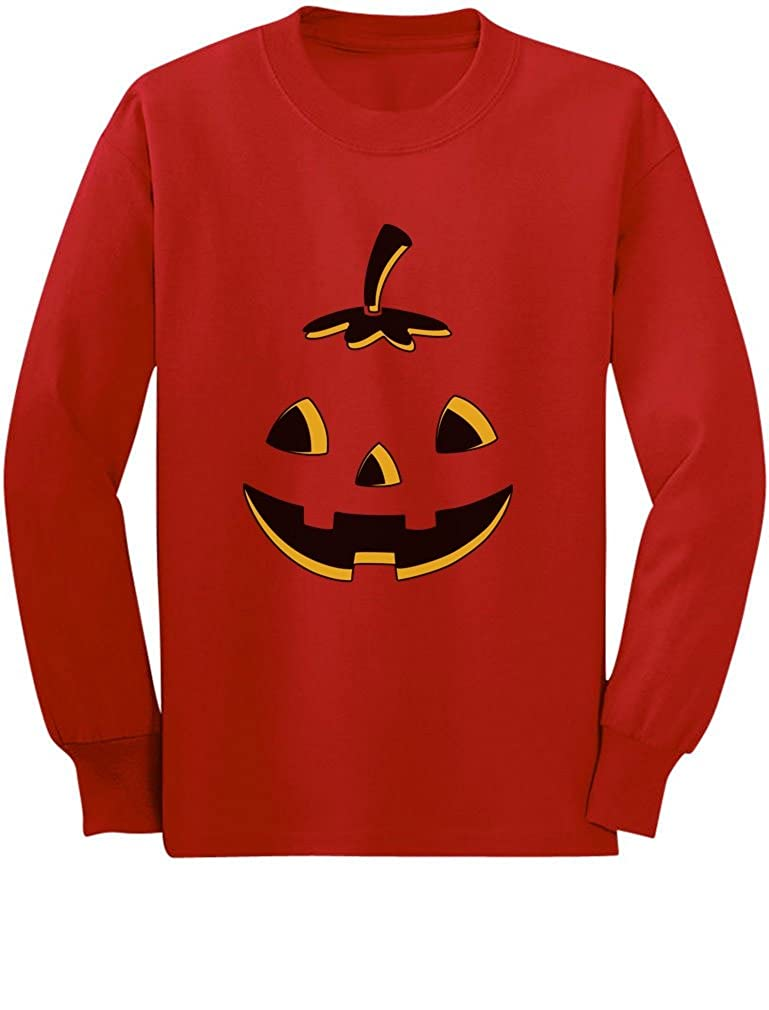 Jack O Lantern Cute Smiling Pumpkin Halloween Toddler//Kids Long Sleeve T-Shirt