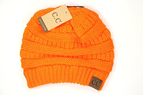 Crane Clothing Co. Women's Classic CC Beanies One Size Hunter Orange